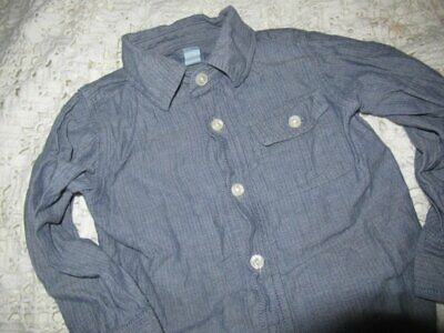 euc Baby Gap chambray long sleeve button shirt  boy 2T free ship USA