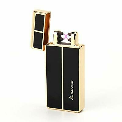 Salcar USB Lighters Dual Arc Electronic Lighter Rechargeable Windproof Cigaret..