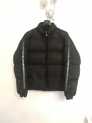 SUPREME REFLECTIVE EMBOSSED Sleeve Logo Puffer XL - EUR 256,86