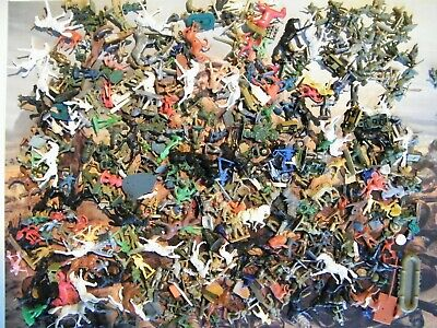 1/72 Airfix & Other Makes Very Large Lot Hundreds Of Figures Soldiers Ww2 Etc