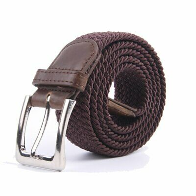 Canvas Elastic Fabric Woven Stretch Multicolored Braided Belts 2041-CO-2XL
