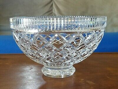 """Waterford Crystal Kinsale Punch Bowl 9.5""""dia. EUC"""