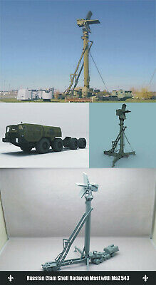 1/144 RESIN KITS Russian Clam Shell Radar on Mast with MaZ 543