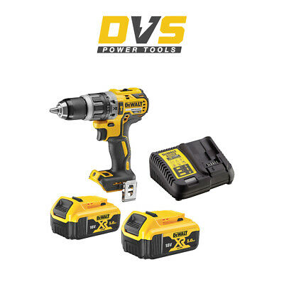 DeWalt DCD796N 18v XR Brushless Combi Drill + 2 x 5Ah DCB184 Batteries, Charger