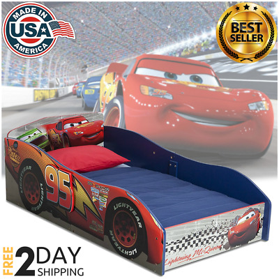 Toddler Bed Tent Kids Boys Child Disney Cars Blue Bedroom Furniture