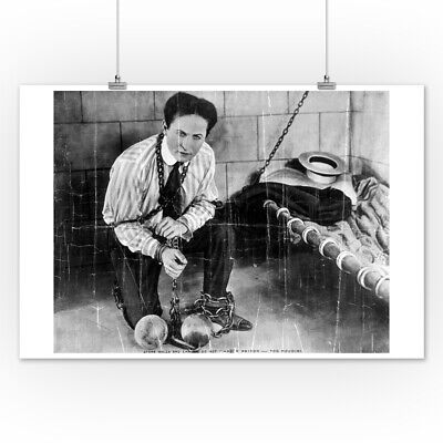 Houdini Escape from Prison - Vintage Photo (Posters, Wood & Metal Signs)