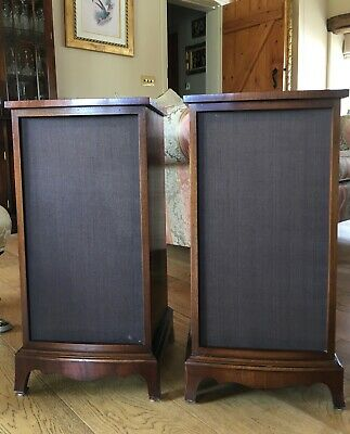 Bevan Funnell Large Traditional Mahogany Hi-Fi Speaker Cabinets - V. Good Cond