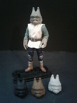 """Custom Action Figure Head Casts 1:18th or 3-3/4"""" Scale Gotal Cantina Alien"""