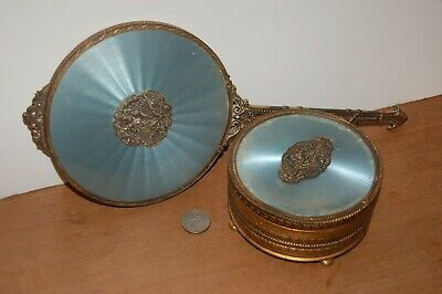 Dressing Room Set, Hand Mirror and Container, Family item from the 1930s
