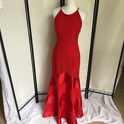07716816b2fa Cache Vtg 80s Womens Sz 6 Long Red Stunning Dress See Description Price  Reduced
