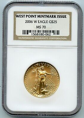 2006-W NGC MS70 G$25 American Gold Eagle Brown Label