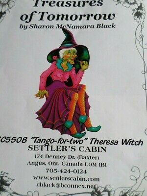 Decorative Tole Painting Pattern Packet, Theresa Witch by Sharon McNamara Black
