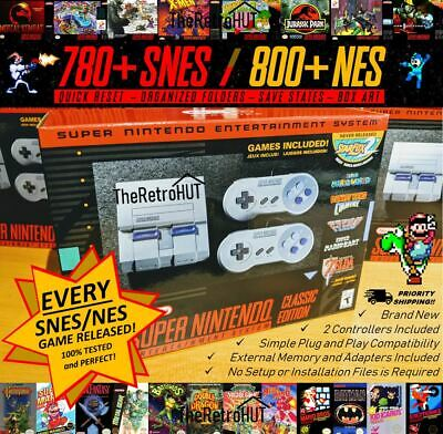 1580+ SNES & NES (Every Game Release) Modded Super Nintendo Mini Classic Console