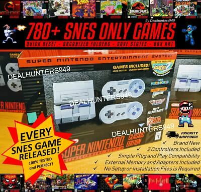 SNES 780+ Games (Complete Library EVER) Mini Classic Super Nintendo Modded NEW!