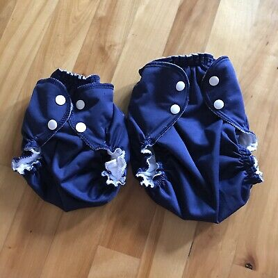 Apple Cheeks Cloth Diapers Vintage Sailor Blue SB Size 1 Size 2 Read Description