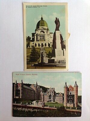 2-cd Lot~Montreal~St Joseph Oratory~basilica~postage due~Royal Victoria Hospital