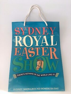 Royal Easter Show Blue Glossy Paper Promotional Bag with handle