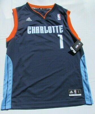 e80cd4bad NWT adidas NBA Charlotte Bobcats Youth Large (14-16) Blue Stephenson Jersey