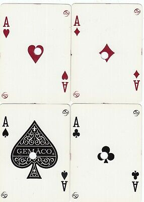 ACE of SPADES & SUIT ACES Spotlight CASINO - 4 single vintage playing cards