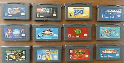 Nintendo Lot 12 Game Boy Advance Games TESTED Working great Star Wars Lego Mario