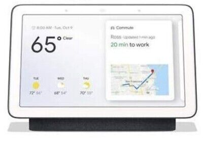 NEW SEALED Google GA00515-US Home Hub with Google Assistant - Charcoal