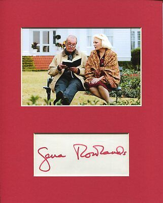 Gena Rowlands The Notebook Rare Signed Autograph Photo Display W/ James Garner