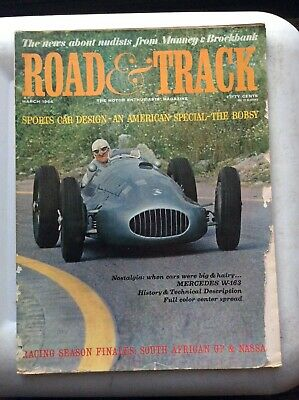 March 1964 Road & Track Corvette Sting Ray Pontaic GTO Jim Clark A.J. Foyt Lang