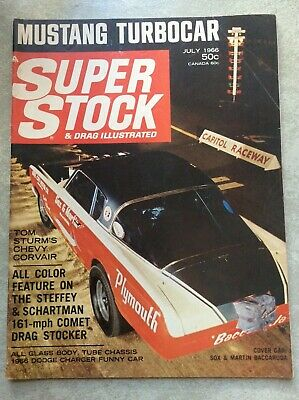 July 1966 Super Stock & Drag Racing Illustrated Schartman Chrisman Sox Sturm