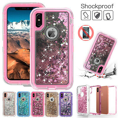 360° Quicksand Liquid Bling Glitter Case Cover For iPhone XS Max XR 8 Plus 7 6s