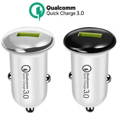 Car Quick Charger Qualcomm QC 3.0 USB Cigarette Lighter Adapter Portable