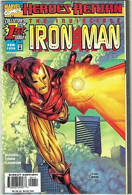 9.4 NEAR MINT | The Invincible Iron Man #1 and #2 VARIANT (Feb-Mar 1998, Marvel)