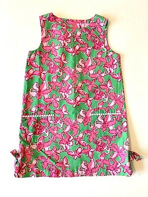 b9e07d1ad238a6 Lilly Pulitzer Little Lillies Classic Shift Dress Pink/Green/White Girls  Size 7