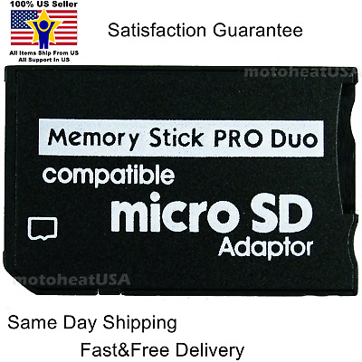 Adapter for Micro SD SDHC TF Card to Memory Stick MS Pro Duo PSP Support 64GB