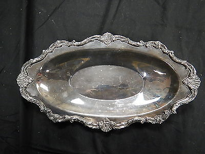 Waverley By Wallace Made in USA Silverplate Serving Tray Oval 9525 TF