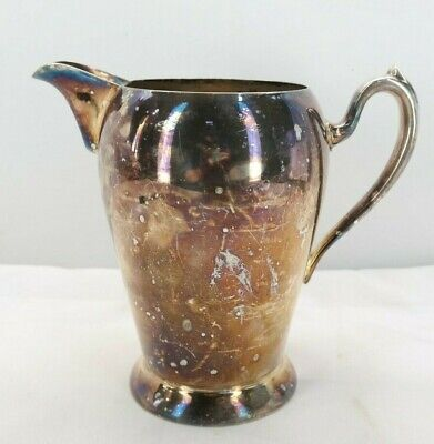 Vintage Academy Silver On Copper Pitcher No. 105 TF