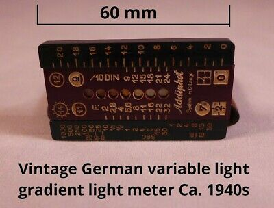 Vintage photographic light meter, variable light gradient, Addiphot Germany