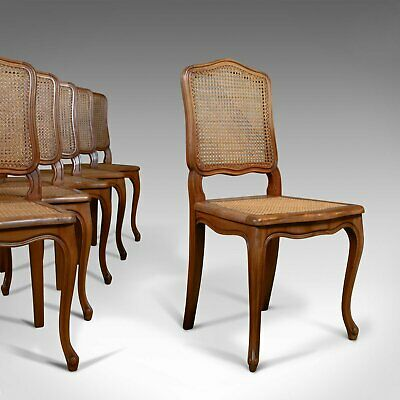 Set of Six, Antique Dining Chairs, French, Beech, Louis XV Revival, Circa 1930