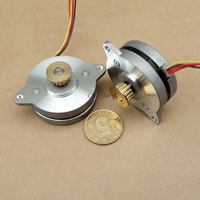 36mm Stepper Motor 0.9° 2-phase 4-wire Stepping Motor with Pulley for Monitor