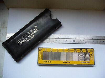 'RUBERT & Co.Ltd' POCKET SURFACE ROUGHNESS FACE TURNING SCALE No:119   (4268)