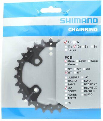 3f5440a2a98 NEW SHIMANO SLX FC-M660-10 Replacement Inner Chainring 64 BCD x 24T ...