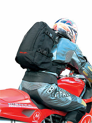 BIKE IT Motorcycle Rucksack Motorbike Backpack Heavy Duty Rucksack Black