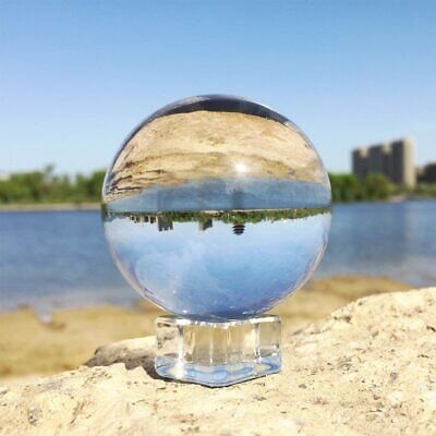 K9 50/ 80mm Clear Crystal Paper Photography Lens Ball Photo Prop Decor & Holder