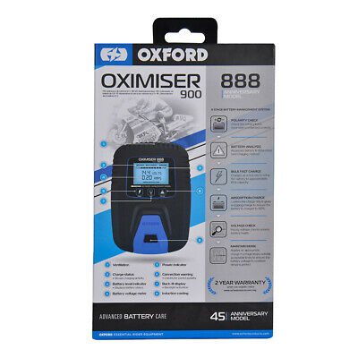 Oxford Oximiser 900  Battery Charger Optimate Trickle Charge Rrp £49.99