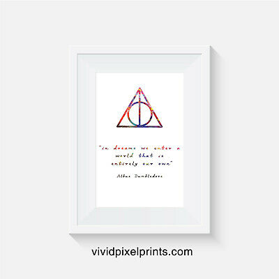 Harry potter inspired inspired, print, poster, prints, posters, quote, wallart