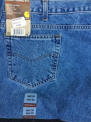 14f5e627 Carhartt Men's Big Jeans 46 x 30 Style B18 STW Traditional Fit New with Tags