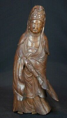 Japan Kibori Buddhist deity sculpture wood carving 1900s Japanese art