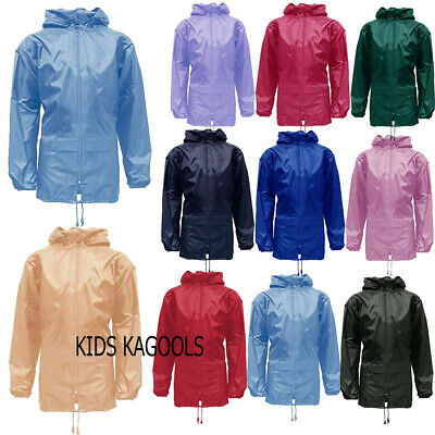 Kids Boys Girls  Rain Coat Jacket Kagool/Kagoul/Cagoule S-22,24,26,28,30,32,34