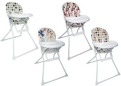 Baby Foldable High Chair With Padded Seat , Feeding Tray And Various Designs