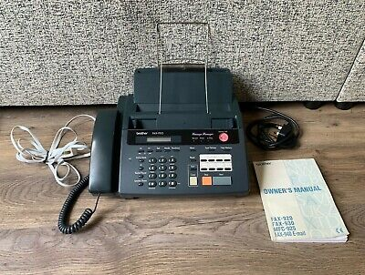 Brother Fax-930 Fax Machine/Telephone & Answer Machine- Tested & Working- Manual