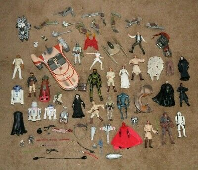 Star Wars Lot Action Figures & Parts Darth Maul Boba Fett Han Solo Darth Vader
